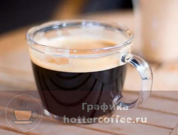 Порция кофе лунго