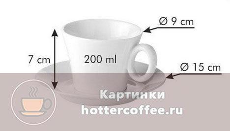 Подходящая чашки для подачи капучино
